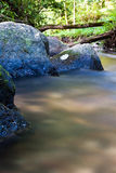 Stones in the river. Long exposure Royalty Free Stock Photo