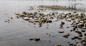 Stones on river. Royalty Free Stock Photography