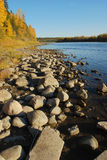 Stones in River Valley Stock Image