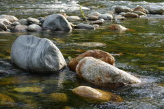 Stones at the river water Stock Photos