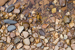 Stones On Riverbank. Stones On Natural Riverbank Outdoor Royalty Free Stock Photo