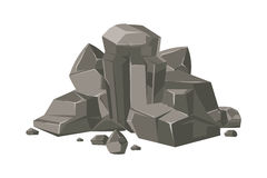 Stones and rocks cartoon vector nature boulder Royalty Free Stock Photo