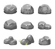 Stones and rocks cartoon vector Stock Image
