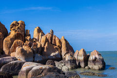 Stones ( rocks ) at Ke Ga Island about 30 kilometers south of Phan Thiet City, Binh Thuan province, Vietnam Stock Photo