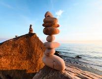 Stones at rocky seashore Royalty Free Stock Image