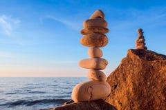 Stones at rocky seashore Stock Photo
