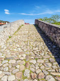 Stones of Roman bridge Royalty Free Stock Image