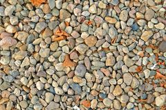 Stones with rubbish stock photos