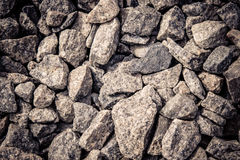 Stones rubble closeup. Background abstract macro, filter Royalty Free Stock Image