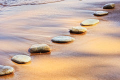 Stones and Sand Royalty Free Stock Images