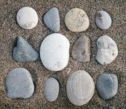Stones on sand Stock Photo
