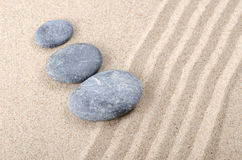 Stones on sand Royalty Free Stock Photography