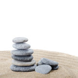 Stones on sand Stock Photography