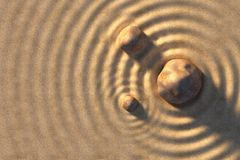Stones and sand Stock Photo