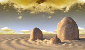 Stones and sand Stock Photo
