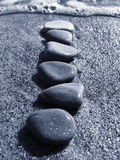 Stones on sand Royalty Free Stock Photo