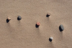 Stones in sands Royalty Free Stock Photos