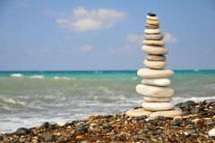 Stones by sea Stock Photography