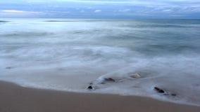Stones in Sea. Black Sea, cloudy Royalty Free Stock Photo
