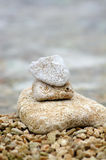 Stones by the Sea. Zen Style Stones by the Sea Royalty Free Stock Photos