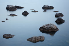 Stones in the sea Royalty Free Stock Images