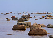 Stones in the sea. Stock Image