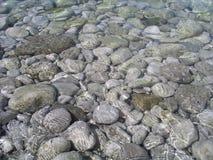 Stones in the sea. Near Island Capri Royalty Free Stock Image