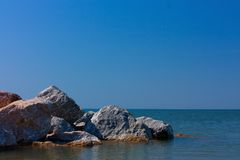 Stones in sea Royalty Free Stock Images
