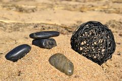 Stones by the sea Royalty Free Stock Images