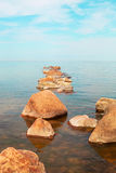 Stones in sea. Royalty Free Stock Images