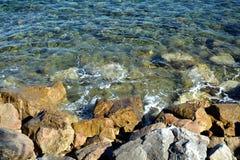 Stones and sea background, landscape Stock Photo