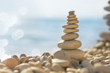 Stones on the sea beach Stock Photography