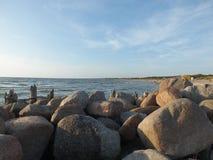 Sky stone sea Stock Photo
