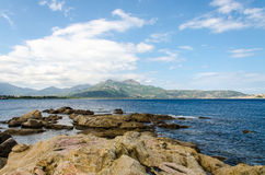Stones in the sea. In Corsica Stock Images