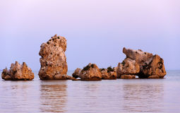 Stones in the sea. The Crimean coast in the summer. Stones in the . The Crimean coast in the summer stock photography