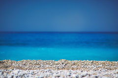 Stones and sea. The magnificent seascape of the Mediterranean Sea Stock Image