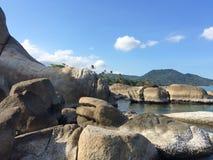 Stones. Sea Thailand view paradise royalty free stock photography