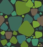 Stones a seamless pattern. Stones pattern. A seamless pattern of a stones green and brown on a black background Vector Illustration