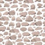 Stones seamless pattern. Set of cobblestones. Royalty Free Stock Photo