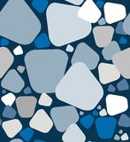 Stones a seamless pattern. Stones pattern. A seamless pattern of a stones in white, gray blue, gray and blue on a blue background Royalty Free Illustration