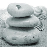 Stones and seashells Royalty Free Stock Photography