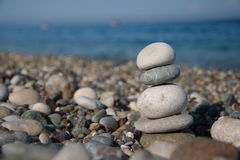 Stones on the seashore Stock Image