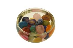 Stones, semiprecious, polished Stock Images