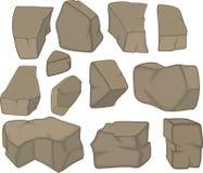 Stones set cartoon Stock Photos