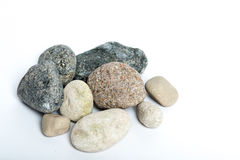 Stones. Several stones on a white background Stock Image