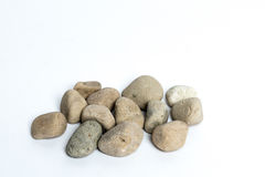Stones. Several stones on a white background Royalty Free Stock Photo