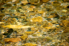 Stones in shallow water Royalty Free Stock Images