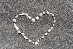Stones in shape of heart Royalty Free Stock Images