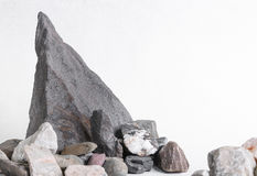 Stones in the shape of rock on white background royalty free stock image