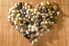 Stones shaped like a heart Royalty Free Stock Image